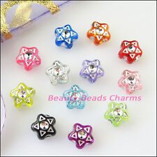 100Pcs Mixed Acrylic Plastic Five-pointed Star Spacer Beads Charms 7mm