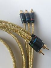 6ft 3-RCA  Composite Video Stereo Audio AV Cable Cord Wire Gold