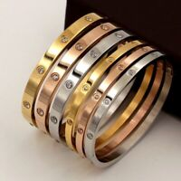 Lovers Bracelets Stainless Steel Bangles Luxury Jewelry Gift Wristband Women TOP