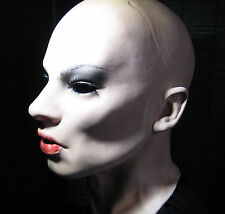 DOMINANT EMILY MASK +LASHES/WIMPERN - Real. Female Latex Latexmaske Frauenmaske