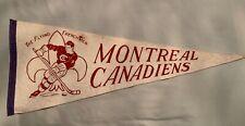Montreal Canadiens Vintage 1950-60's pennant