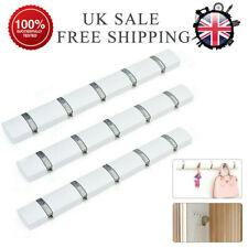 UK Foldable 5 Hooks Wall-Mounted Rack Coat Hook Rack Towel Wooden Hanger Holder