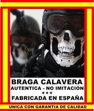BRAGA TUBULAR SKULL CALAVERA BLANCA FABRICADO EN ESPAÑA MOTO BICICLETA SKI SNOW