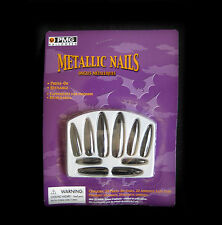 Black Press On Nails Witch Halloween Sexy Vampire Adult Costume Accessory