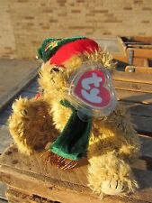 """TY Beanie Baby SPRUCE Christmas BEAR Witch approx 6"""" sitting 8"""" long  POSEABLE"""
