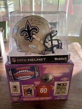 RICKEY JACKSON SIGNED New Orleans SAINTS Speed Mini Helmet TRISTAR COA HOF 2010