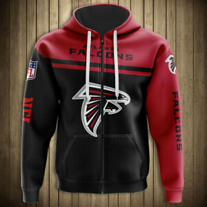 Atlanta Falcons Football Fans Hoodie Outdoor Zipper Sweatshirt Casual Jacket New