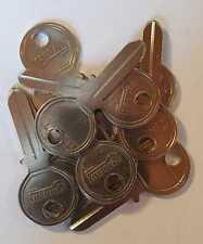 10x Rohling Anlageschlüssel Bohrmuldenschlüssel Errebi KB1 passend für KABA KESO