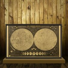 Retro Paper Wall Chart Decal Earth's Moon World Map Poster Decor NP2Z