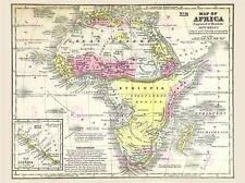 Map Repro Antique Mitchell Africa Continent Canvas Art Print