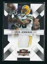 Greg Jenning 2009 Donruss Threads Jersey Card #36 LTD #88/100    PACKERS