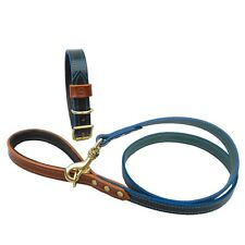 HOUNDWORTHY MONOGRAM LUXURY PADDED BRIDLE LEATHER DOG LEAD (FOREST GREEN) 120cm
