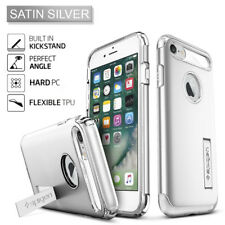 Spigen for Apple iPhone 7 Plus Slim Armor Shockproof TPU Case Kickstand Cover Satin Silver
