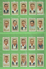 #GG1.   SET  OF  FIFTY  CRICKET CIGARETTE CARDS -  CRICKETERS 1934