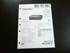 Original Service Manual Schaltplan  Sony MDS-M102 MD1