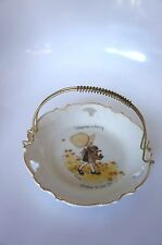 """Hard To Find! Vintage Holly Hobbie """"Happiness"""" Plate With Metal Handle"""