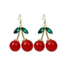 Trendy Charming Jewelry Popular Juicy Cherry Earring Red Color For Women Bridal