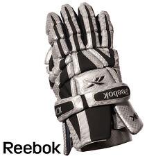 "New Reebok 10K lax gloves size medium 12"" silver/black Brand NWT lacrosse glove"