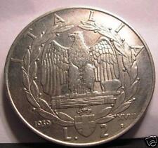 2   Lire   1939 XVIII  A.M.    conservazione  BB