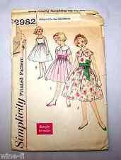 Pattern Simplicity # 2982 Size  7  Girl's Dress Belt Sash   Vintage