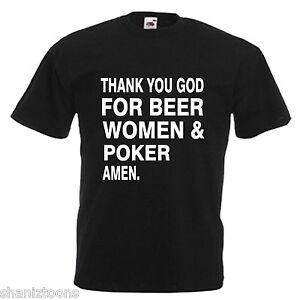 Poker Mens Adults T Shirt