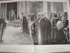 King Edward VII last Throne Room Buckingham Palace before Coronation 1902 print
