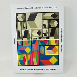 Sol Lewitt 500 Piece 2-Sided Puzzle Museum of Modern Art MOMA Distorted Cubes