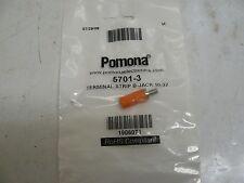 NEW LOTS OF 2 POMONA ELECTRONICS 5701-3 TERMINAL STRIP B-JACK 10-32(ORANGE)