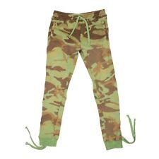 NWT FAITH CONNEXION Green Camouflage Laced Jogging Pants Size L $730