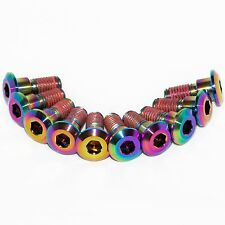10x Gsxr1000 K7 K8 Rainbow Titanium Front Disc Rotor Bolts With Threadlock Gsxr