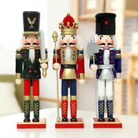 Christmas Nutcracker Handmade Walnut Soldiers Set Wooden Decoration Ornament 12""