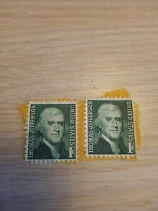 United States Thomas Jefferson 1 Cent Stamp