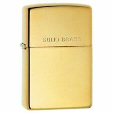 More details for personalised high polished solid brass engraved genuine zippo lighter