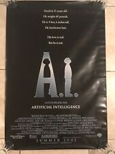 A.I. Artificial Intelligence movie poster 27x40 DS original theatre Spielberg