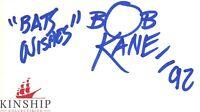 "Bob Kane signed Inscribed Cut JSA COA ""Bats Wishes"" Rare Bold Comic Book Z453"