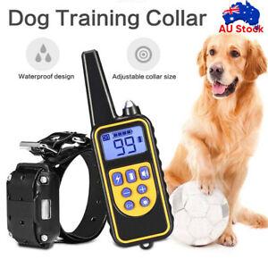 Electric Pet Dog Training E-Collar Anti Bark Remote Control Obedience Collar AU