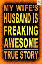 *AWESOME HUSBAND* MADE IN USA! METAL SIGN 8X12 FUNNY BAR MAN CAVE GARAGE DECOR