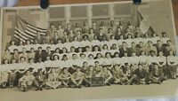 Vintage Photo School Children 1949 Black White Real Nathan Hale JHS Brooklyn NY