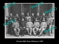 OLD POSTCARD SIZE PHOTO OF THE VICTORIAN RIFLE TEAM MELBOURNE c1900
