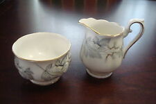 "Royal Albert England Creamer and Sugar ""Silver Maple"" pattern[*4-*1]"