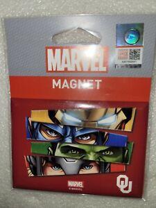 "NIP Wincraft Marvel Comics Avengers Oklahoma Sooners Fridge Magnet 2.5"" x 3.5"""