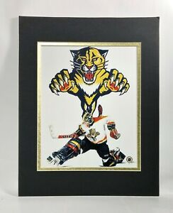 Florida Panthers NHL Hockey 1995 Goalie MATTED 11X14 Lithograph by Kelly Russell