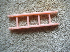 BEST BRAND Vtg 1950s PINK HARD PLASTIC - BUNK BED LADDER  DOLL HOUSE MINIATURES