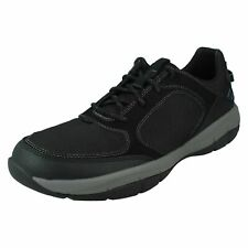 MENS CLOUD STEPPERS CLARKS ERVIN LACE COMFORT CASUAL TRAINERS WALKING SHOES SIZE