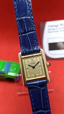 Orologio CARTIER -Must-Tank-Vermeil Solid Silver whit Gold Plated- Vintage Watch