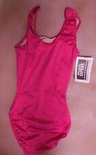 NWT frontlined Tank Leotard Ballet Dance Satin Spandex 6 colors Ladies/girls szs
