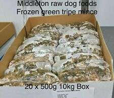 More details for frozen minced green  tripe 20x500g bags/blocks 10kg (22lbs) for dogs barf / raw