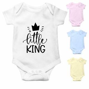 Little King Baby Boy   Funny Cute Baby Grow Baby Bodysuit Baby Vest   Baby Gift
