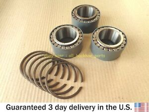 JCB BACKHOE- HUB ROLLER BEARING W. CIRCLIPS, 3 SETS (PART# 907/50200 821/00209)