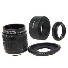 Fujian 35mm F1.7 CCTV Movie lens +C Mount+Hood for SONY E Mount Nex-5T 6 7 A6000